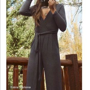 NWT Urban Outfitters Ribbed Knit Wrap Jumpsuit M